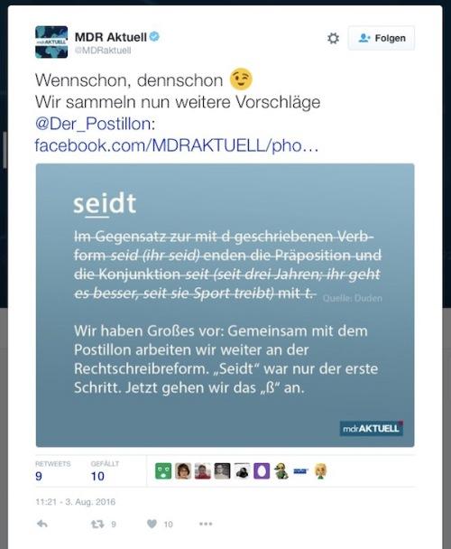 MDR-Presse-Reaktion